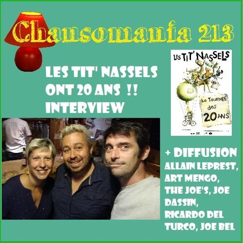 Chansomania 213 Les Tit Nassels 20 10 2018