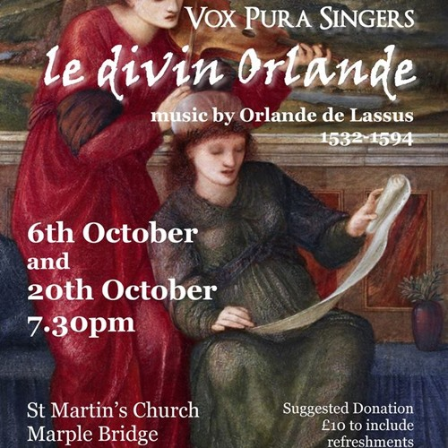 I'vo piangendo by Orlande de Lassus (madrigal for 5 voices)- 20th October 2018