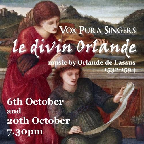 Susane un jour by Orlande de Lassus (chanson for 5 voices)- 6th October 2018