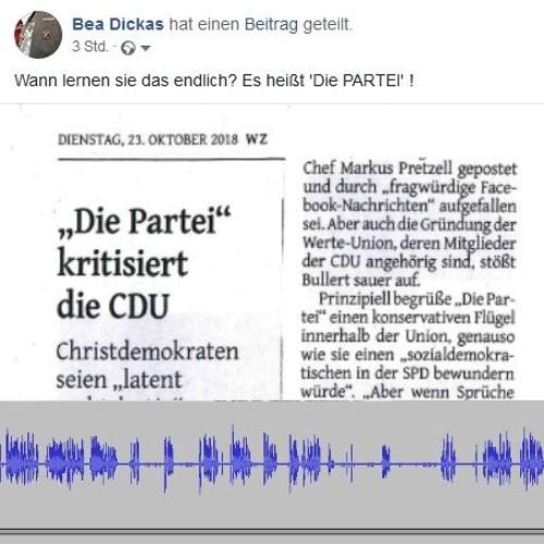 Es Heißt Die Partei By Tonzentrale On Soundcloud Hear The