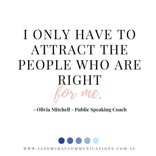 A conversation with OIivia Mitchell - Public Speaking Coach