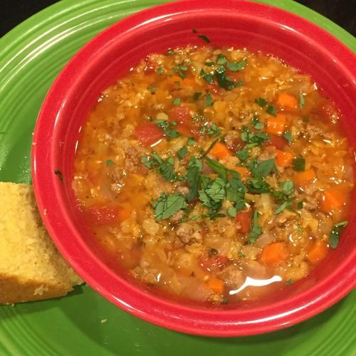 BONUS--Italian Sausage & Lentil Soup