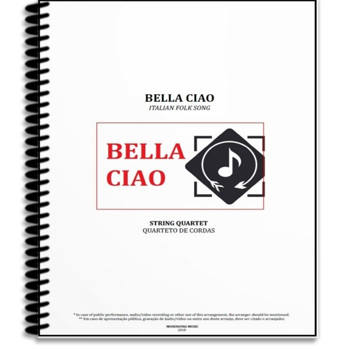 Bella Cia | Italian Folk Song | String Quartet | Sheet Music