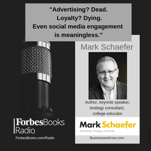 """Best-selling author/speaker/strategy consultant Mark Schaefer (BusinessesGrow.com); his latest book is """"KNOWN: The handbook for building & unleashing your personal brand..."""" & his upcoming book is """"MARKETING REBELLION: The Most Human Company Wins."""""""