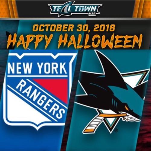 Teal Town USA After Dark (Postgame) - Sharks vs Rangers - 10-30-2018