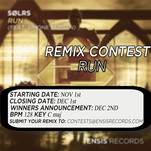 SØLRS feat  Simone Nijssen - Run (REMIX CONTEST)[CLOSED] by Ensis
