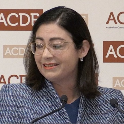 Terri Butler MP addresses Education Deans' Forum, October 2018