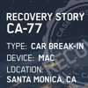 Story CA-77 - Mac computer stolen from car recovered!