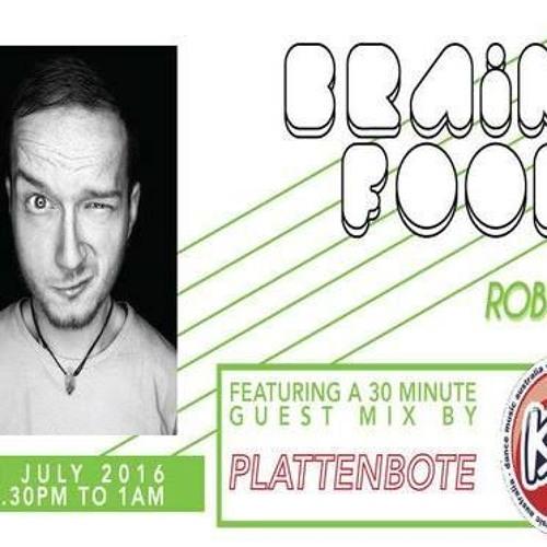 Brain Food With Rob Zile/KissFM/21-07-16/#3 PLATTENBOTE (GUEST MIX)