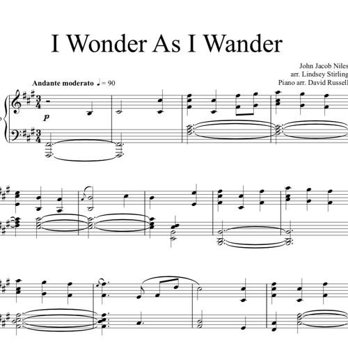 I Wonder As I Wander Piano Solo
