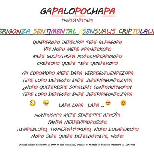 Jerigonza Sentimental Sensualis Criptolalia By Jgv64