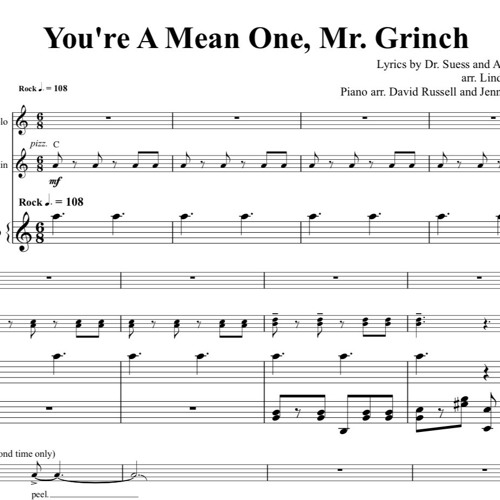 You're A Mean One, Mr. Grinch Piano Accompaniment Sample