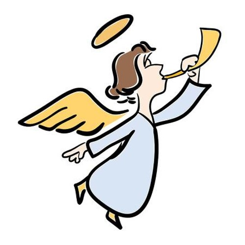 Herald Angel Clip Art - Christmas Angels Clipart Black And White - Free  Transparent PNG Clipart Images Download