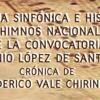 HIMNO NACIONAL CON TOQUES DE GUERRA, partitura del concurso 1854, instrumental.