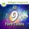 All 9 Solfeggio Frequencies ☯ Pure Tones For Healing ⬇FREE DL⬇