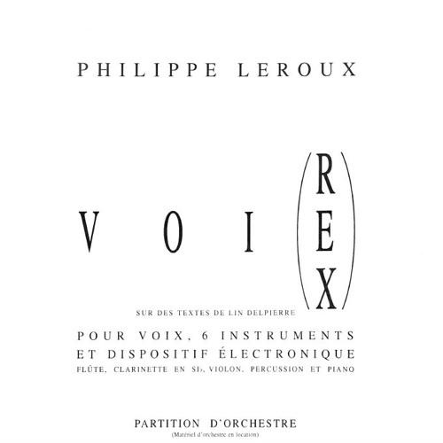 Philippe Leroux Voi(Rex) IV - Devant tour autour
