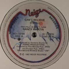 Nancy Martin - Cant Believe(Strange Rollers House Arrest Mix)