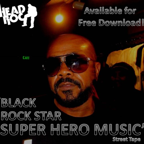 Black Rock Star Super Hero Music Street Tape by Head-Roc