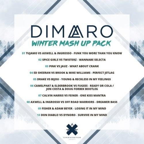 DIMARO Mashup Winter Pack 2018  (10 MAshups) #1 in the Hypeddit top 100 main chart