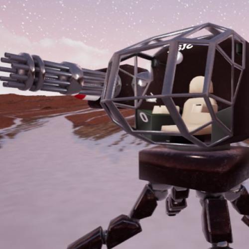 Mech VR level theme.