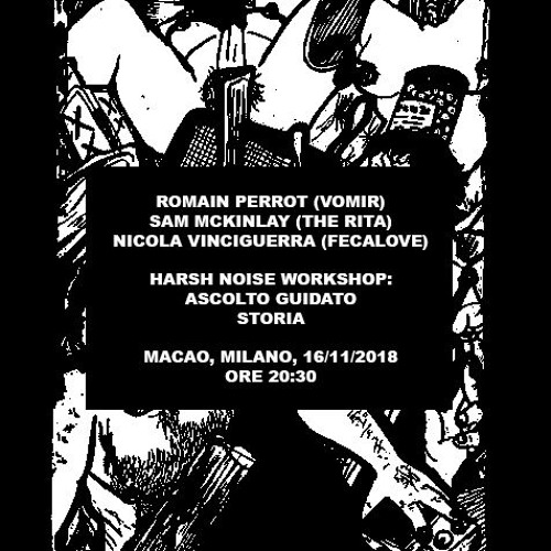 Harsh noise workshop with me, Romain Perrot and Sam McKinlay