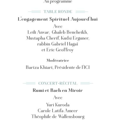"""Table Ronde """"L'engagement Spirituel aujourd'hui"""" (27 septembre 2017)"""
