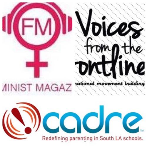 Voices Radio: Eric, Channing, Lynn H.B., and Karina Elias of KPFK's Feminist Magazine share the mic.