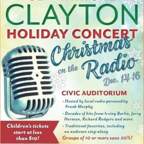 Frank Murphy Interviews Aram Demirjian, Kathryn Paden, David Crawford - 2018 Clayton Holiday Concert