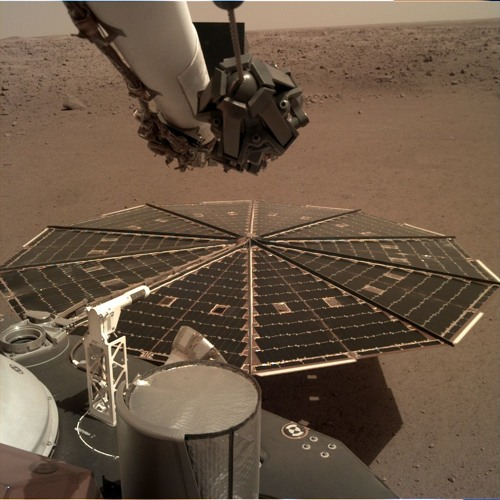 Sounds from InSight's Pressure Sensor on Mars