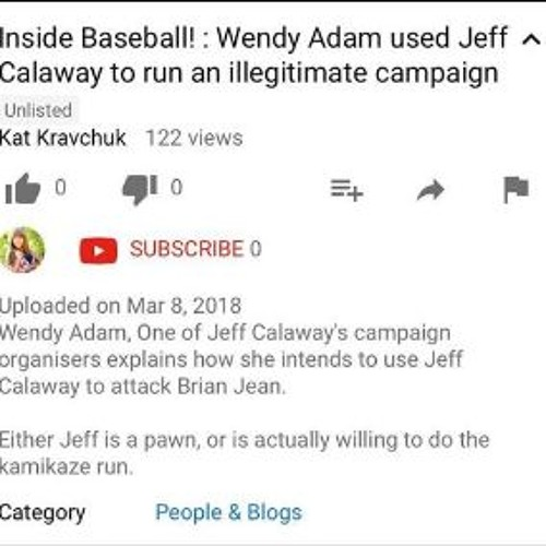 Inside Baseball! Wendy Adams Used Jeff Calaway To Run An Illegitimate Campaign
