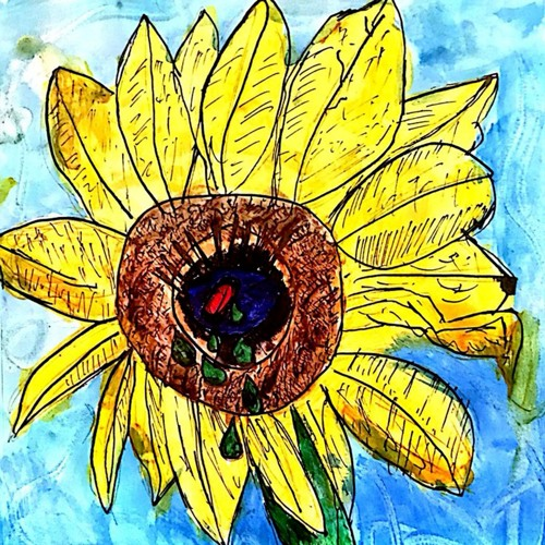 a sunflower rots in fall