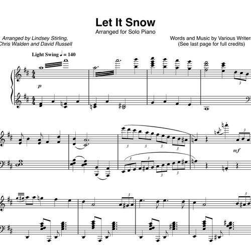 Let It Snow Piano Solo