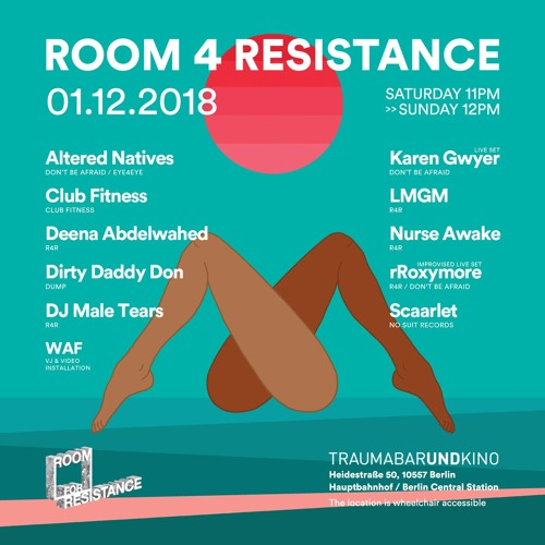 Scaarlet @ Room 4 Resistance - ambient & experimental floor - Trauma Bar & Kino - 01.12.2018