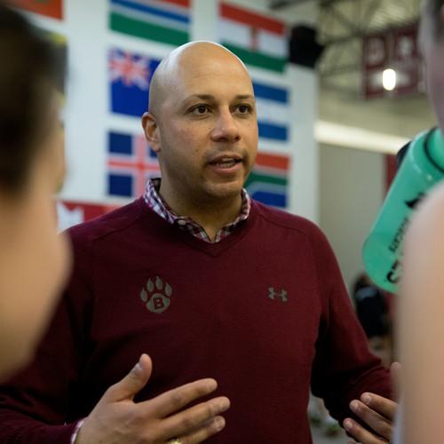 Bates squash head coach Pat Cosquer '97 on 105 Sports Radio