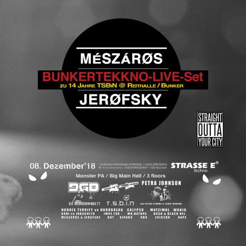 MÉSZÁRØS & JERØFSKY - BUNKERTEKKNO-LIVE-Set @ 14 Jahre TSBiN