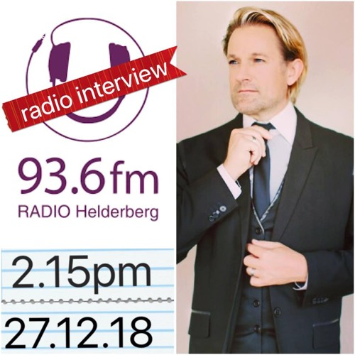 Radio Helderberg 93.6FM interview with Ike Moriz, 27.12.18 (presenter Johann Myburg)