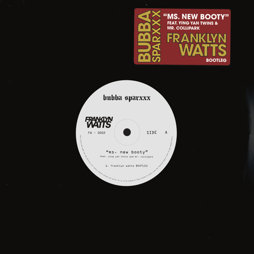 Ms  New Booty (Franklyn Watts Bootleg) FREE DOWNLOAD by