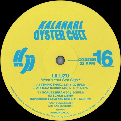 Liluzu - What's Your Star Sign? EP (OYSTER16 - Snippets)