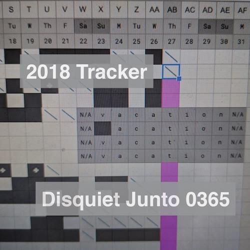 Disquiet Junto Project 0365: 2018 Tracker