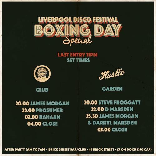 Steve Froggatt Live DJ Set @ Hustle & Liverpool Disco Festival Boxing Night Special 2018
