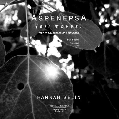 Aspenepsa for alto saxophone and stereo playback