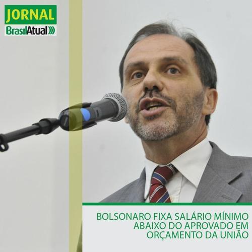 Bolsonaro fixa salário mínimo abaixo do aprovado em orçamento da União