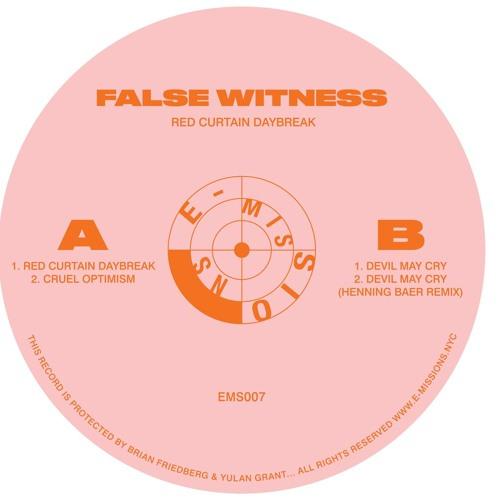 "FALSE WITNESS - ""RED CURTAIN DAYBREAK"" + HENNING BAER REMIX _ EMS007 PREVIEWS"