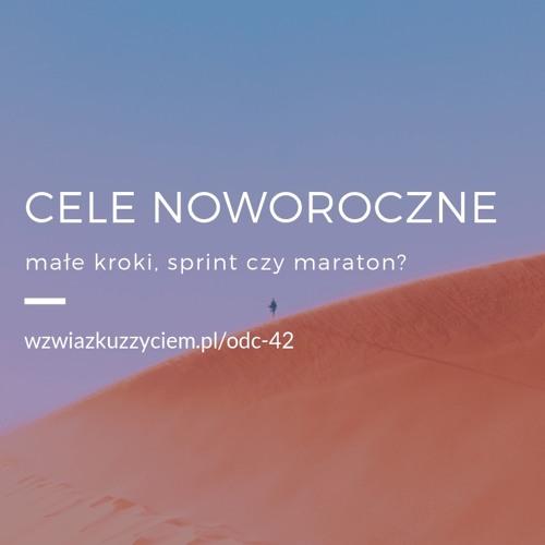 Odc. 42. Cele Noworoczne - małe kroki, sprint, czy maraton?