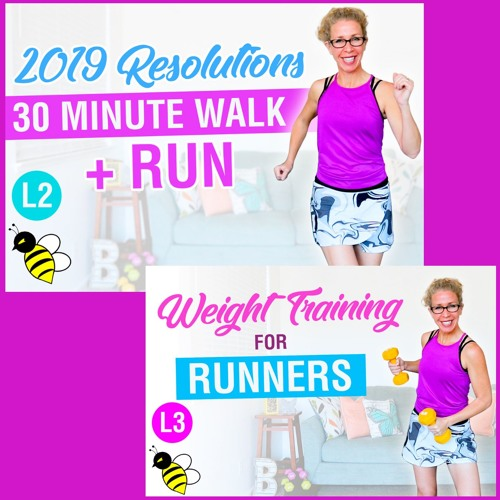My 2019 Resolutions, 30 minute WALK + RUN with post-run DUMBBELL STRENGTH