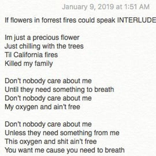 If Flowers In Forrest Fires Could Speak prod. by J.MIL
