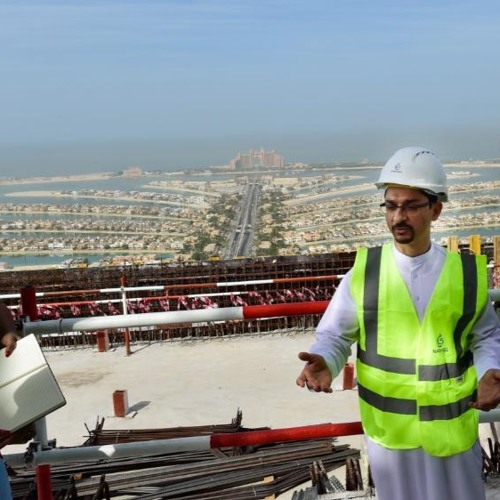 Construction On Palm Jumeirah Tower Reaches High Point