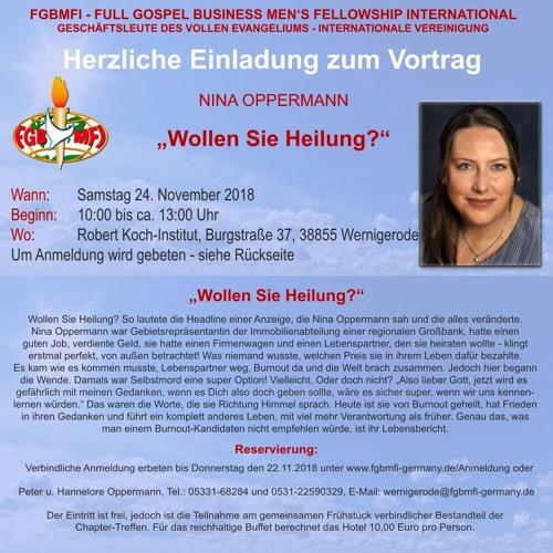24.11.2018 Chapter Wernigerode - Nina Oppermann - Brauchen Sie Heilung