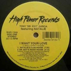 Tony Garcia  Feat  Natalie - I Want Your Love
