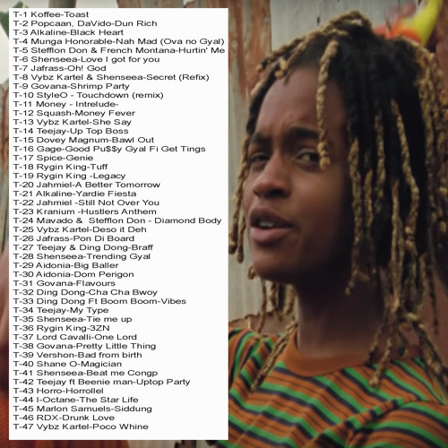 Toast -(Jan 2019 Dancehall Hits) Vybz Kartel, Koffee